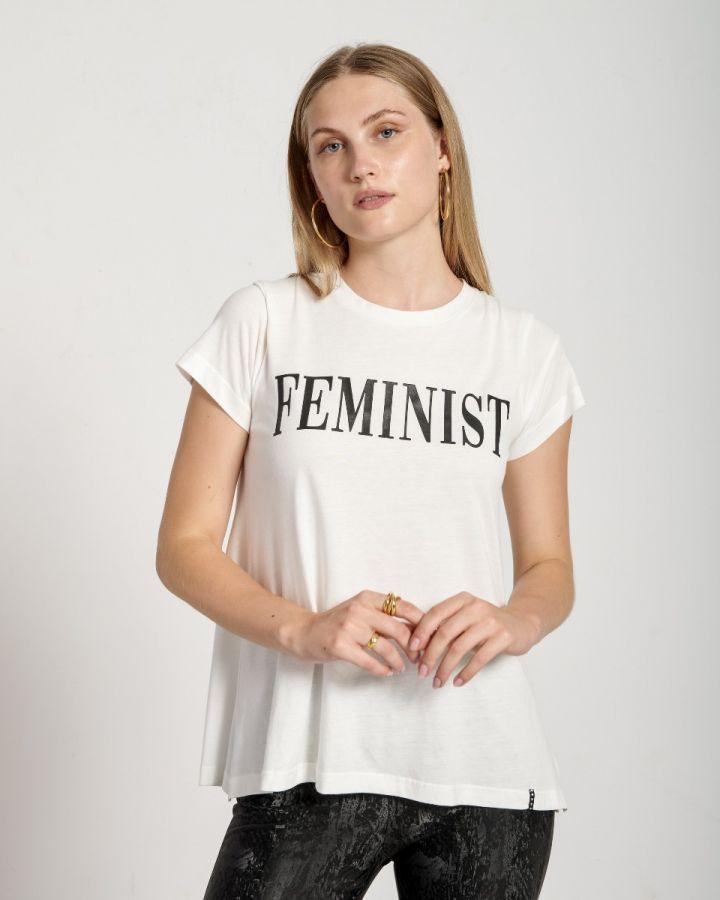 """ΜΠΛΟΥΖΑ T-SHIRT """"FEMINIST"""""""